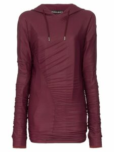 Y/Project Ruched Detail Hoodie - Purple