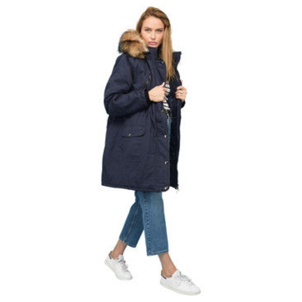 Rodier  Faux fur hooded parka  women's Parka in Blue