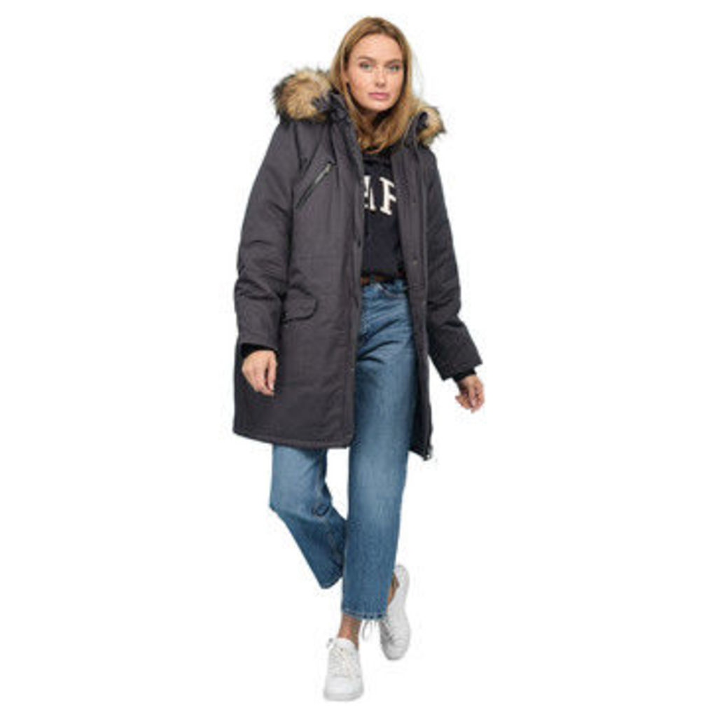 Rodier  Faux fur hooded parka  women's Parka in Grey