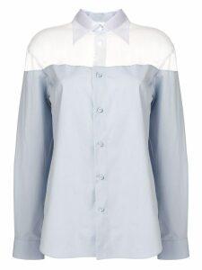 Maison Margiela long sleeved shirt - Blue