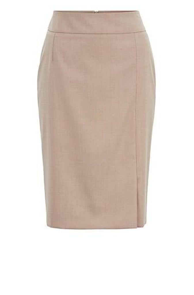Pencil skirt in virgin-wool sharkskin