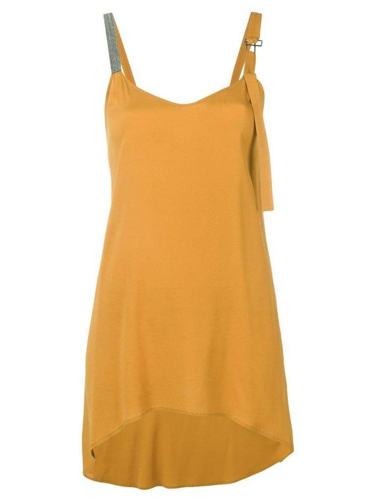 Fabiana Filippi curved hem oversized top - Yellow