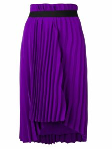 Balenciaga pleated elastic skirt - PURPLE