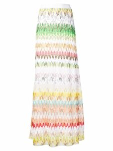 Missoni woven chevron style skirt - White
