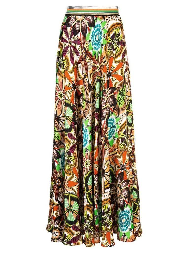 Missoni flared floral skirt - Multicolour