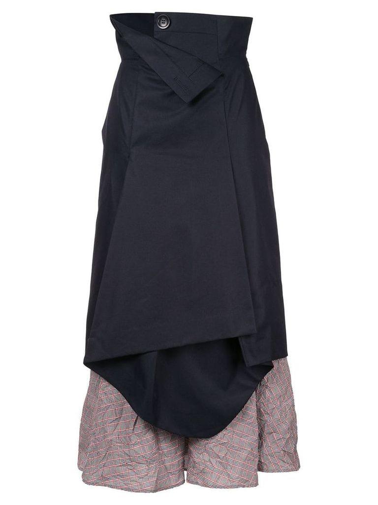 Enföld high-waist deconstructed layered skirt - Blue