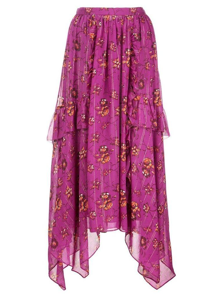 Ulla Johnson floral print skirt - Pink