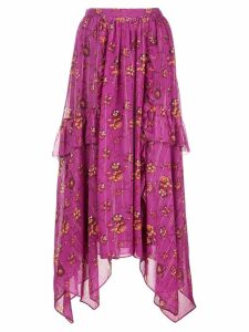 Ulla Johnson floral print skirt - Pink