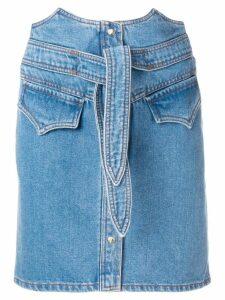 Nanushka tie waist skirt - Blue