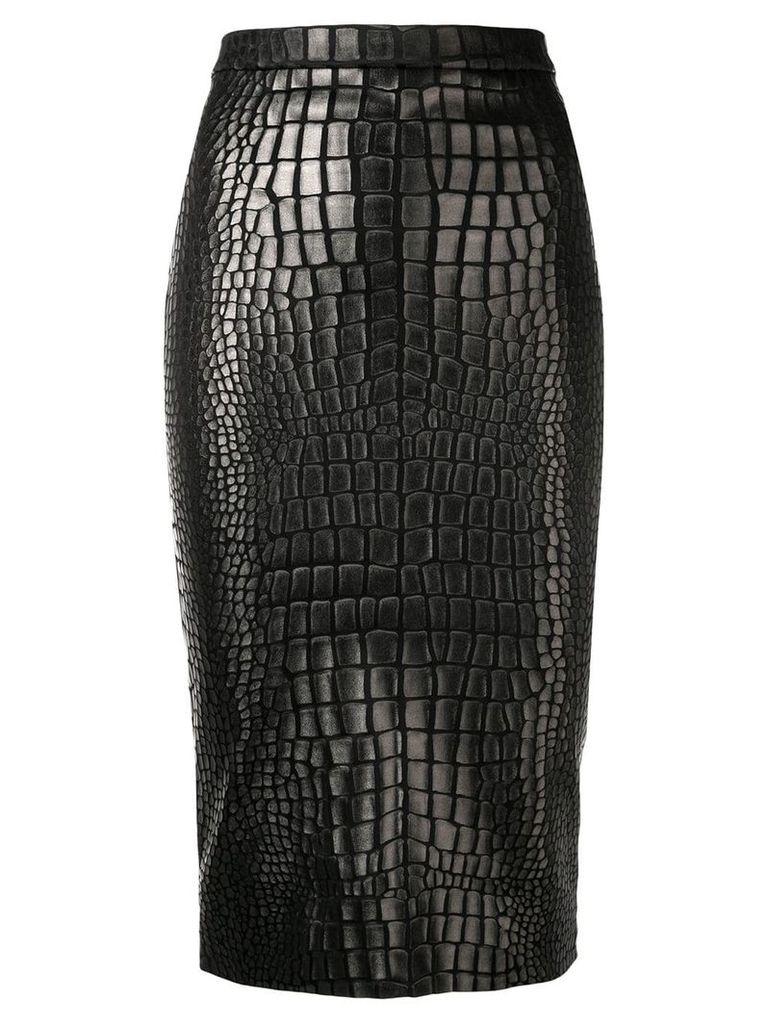 Tom Ford textured pencil skirt - Black