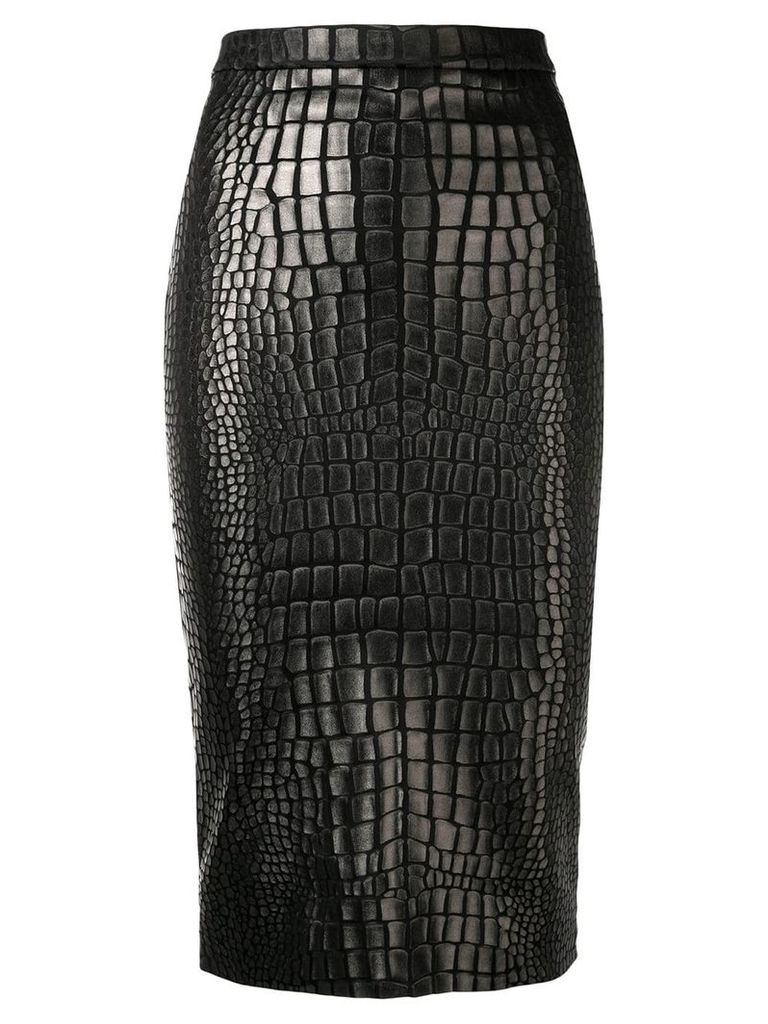 Tom Ford textured pencil skirt - Black