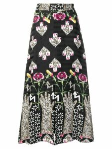 Temperley London geometric print skirt - Black