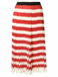 Calvin Klein 205W39nyc striped pleated skirt - Red