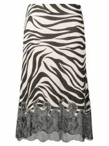 Chloé zebra print midi skirt - Black