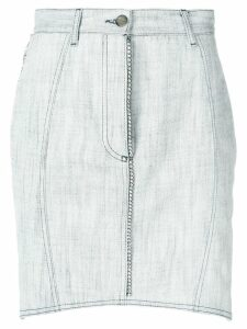 Marco De Vincenzo embellished asymmetric skirt - White