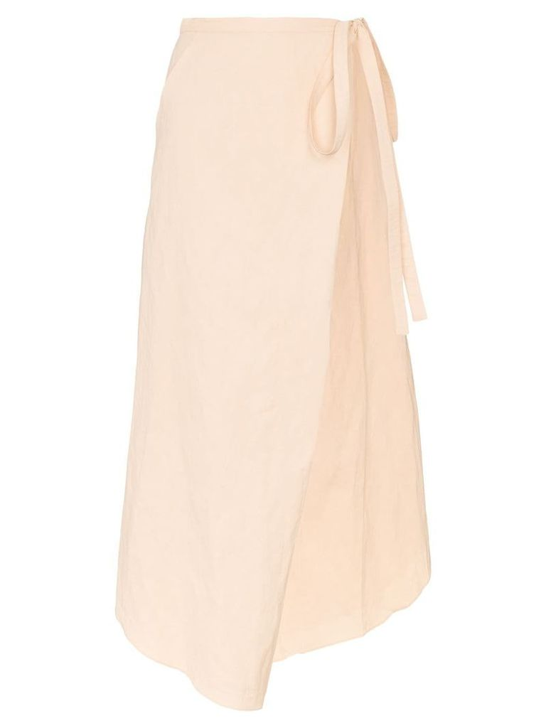 Y/Project high-waisted side tie wrap skirt - Orange