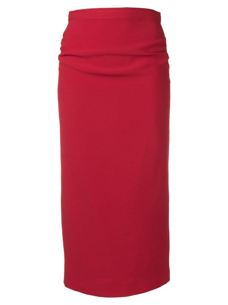 Nº21 high-waist pencil skirt - Red