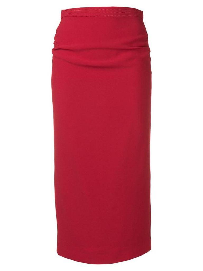 Nº21 high-waist pencil skirt - Red