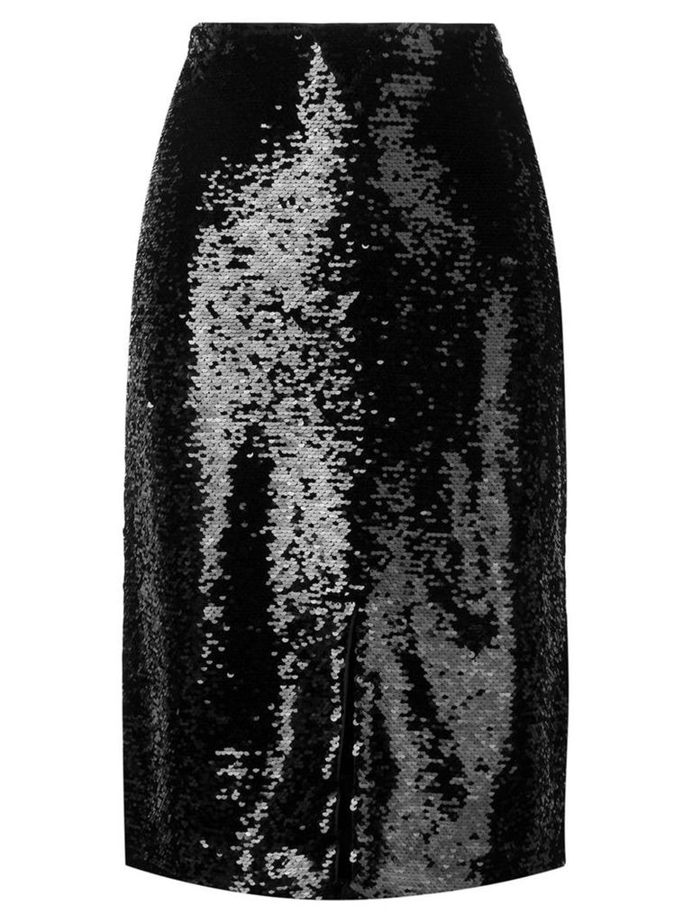 Ganni sequined pencil skirt - Black