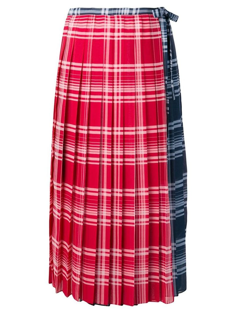 Tommy Hilfiger checked pleated skirt - Blue