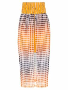 SILVIA TCHERASSI Lavanda silk-cotton blend mini with pleat overskirt -