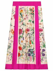 Gucci Flora print pleated skirt - Neutrals