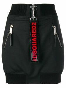 Dsquared2 multizip aviator skirt - Black