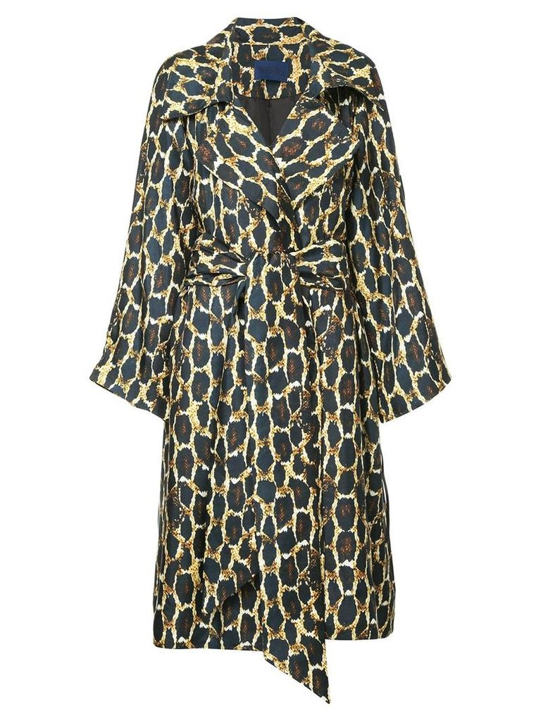 Sharon Wauchob printed wide collar trench coat - Multicolour