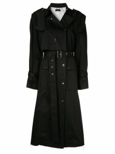 Eudon Choi belted studded trenchcoat - Black