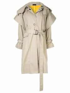 Eudon Choi belted trench coat - Neutrals