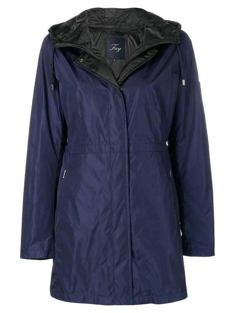 Fay plain raincoat - Blue