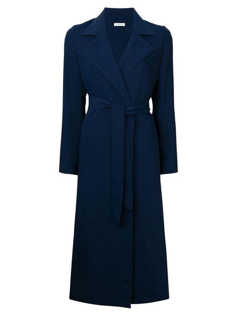 P.A.R.O.S.H. long belted coat - Blue