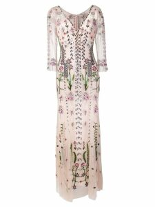 Temperley London floral embroidered evening dress - Pink