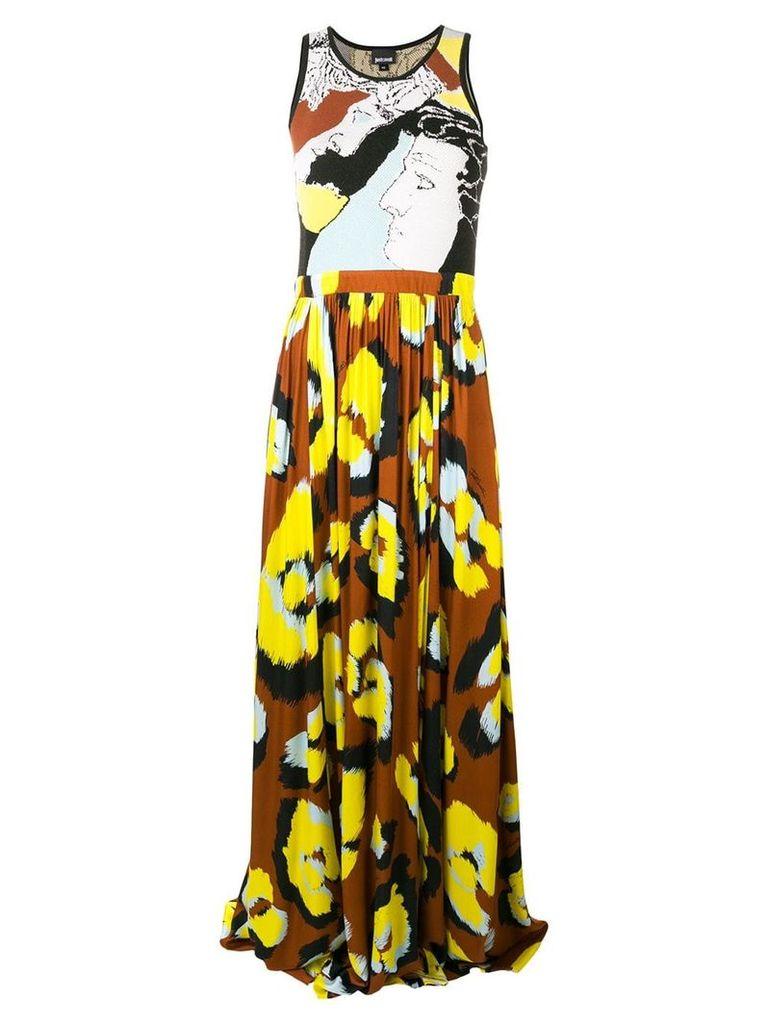 Just Cavalli leopard print dress - Brown