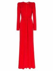 Silvia Tcherassi Caeli gathered waist split front maxi dress