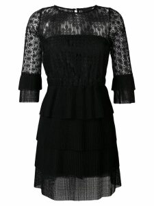 Just Cavalli lace-embroidered dress - Black