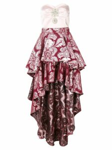 Christian Pellizzari frill-layered asymmetric dress - Pink