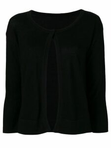 Sottomettimi one button cardigan - Black