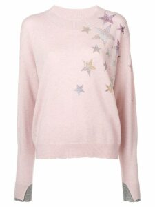 Zadig & Voltaire gaby star patch pullover - Pink