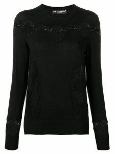 Dolce & Gabbana slim-fit lace pullover - Black