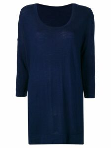 Sottomettimi longline knitted sweater - Blue