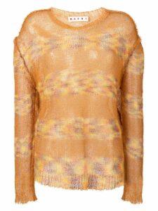 Marni striped jumper - Brown