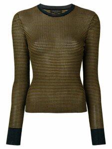 Rag & Bone metallic thread striped sweater - Blue
