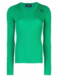 Rochas ribbed jumper - Green
