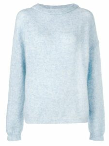 Acne Studios Dramatic oversized sweater - Blue