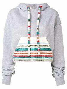 Alanui cropped hoodie - Grey