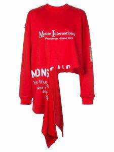 Monse slit hem sweatshirt - Red