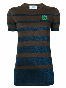 Prada lurex stripes top - Brown