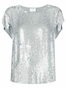 P.A.R.O.S.H. sequin T-shirt - Silver