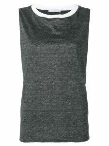 Fabiana Filippi round neck top - Grey